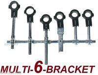 6 PC MAGIC MULTI-BRACKET LNB HOLDER ADAPTER SATELLITE FTA HD 118 33 36 39 DISH