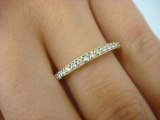 14K YELLOW GOLD THIN DIAMOND WEDDING BAND 2.8 GRAMS 2.25 MM WIDE, SIZE 8