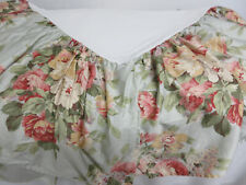 Ralph Lauren Aqua Pink Yellow Floral Stone Harbor Queen Cotton Bed Skirt