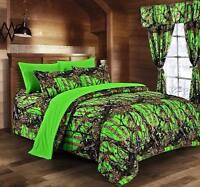 NEW BioHazard Green TWIN! The WOODS 1 pc Microfiber CAMO Reversible Comforter!!