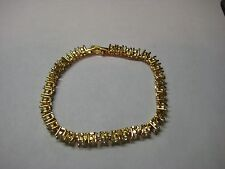 Bracelet with 7.75ctw White Sapphire in 18k Yellow Gold Plated