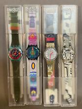 Lot (4) NOS Vintage 1992 Old SWISS Original 90's SWATCH Quartz AG WATCH & CASE