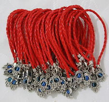 LUCKY WHOLESALE! Lot of 50 Red String + Hamsa Charm Bracelet Against Evil Eye
