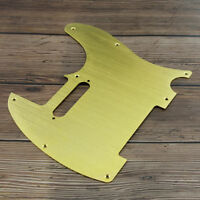 Golden Aluminium Metall Tele Schlagbrett Alu Pickguard 8 Löcher für Tele Gitarre