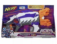 NERF Gun Alien Menace Ravager 8 dart Rotating Barrel 2 Fins Christmas Gift New