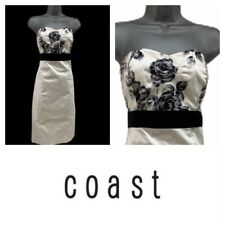 Coast Sweetheart Strapless Pencil Wiggle Lined Dress Cream Ivory Black Size 12