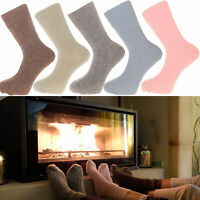 Alpaca Bed Socks Thick, soft and Warm, 90% Alpaca Wool, PINK BLUE CREAM COLOURS