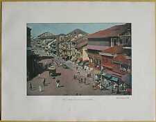 ca.1895 French photochrom STREET IN EUROPEAN QUARTER, BOMBAY MUMBAI, INDIA (#120