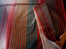 ancien grand coupon tissus antique fabric coton soyeux facon chintz vintage 60'
