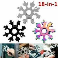 18 In 1 Stainless Steel Multi-Tool Multifunction Snowflake Shape Screwdriver HOT