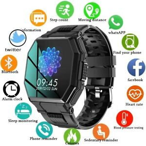 2021 Full Touch Screen Luxury military sport Men's Smart watch Heart rate call