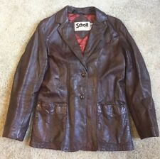 SCHOTT NYC Woman's VTG Brown Leather Jacket Small Made in U.S.A.