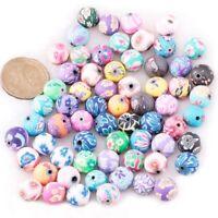 100pcs Beads Jewelry Accessory Ceramic Round 12 mm Dia. C5U9