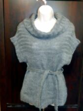 """Dolled up by Fang"" Gray Cowl Neck Sleeveless Sweater Top - Size Medium"