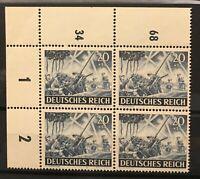 Germany (Third Reich) 1943 block of 4 - Mi 838-Sc B225- MNH