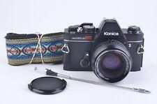 EXC++ KONICA AUTOREFLEX TC w/AR 50mm F1.7 LENS, STRAP, CAP, CR, TESTED NEW SEALS