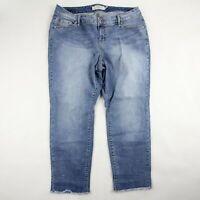 Torrid Womens Skinny Jeans Light Wash Denim High Rise Cotton Blend Size 16
