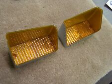 OEM Ford Tooling 1971 Torino Park Light Lamp Lenses Pair Fairlane Cobra Repro.