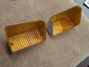 OEM Ford Tooling 1971 Torino Park Light Lamp Lenses Pair Fairlane Cobra Repro.