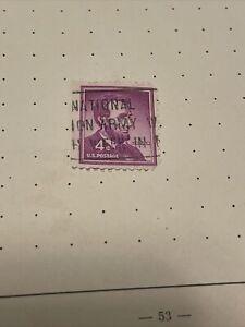 1954 Abraham Lincoln 4 Cent US Vintage Stamp