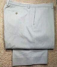 TOMMY BAHAMA-Gray 100% Silk/Cttn Twill, Mens Flt.Fnt Casual Summer Pants-(38x30)