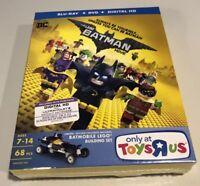 Lego Batman Movie Blu-ray DVD Digital w/Lego Batmobile Toy Exclusive New Sealed