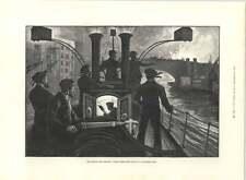 1890 London Fire Brigade Steam Fire Engine Riverside Fire