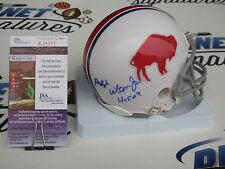 Ralph Wilson Jr signed Buffalo Bills throwback mini helmet w/ HOF 09 JSA COA