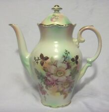 ANTIQUE BAVARIA SCHUMANN ARZBERG GERMANY WILD ROSE TEA, COFFEE POT CERAMIC
