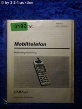 Sony Bedienungsanleitung CMD J5 Mobillelefon (#3182)