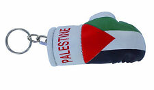 mini boxing gloves keychain keyring key chain ring leather Flag PALESTINE