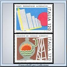 1980 Italia Repubblica Consumi Energetici 1485/1486 **