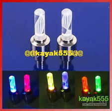 2 Bike Bicycle racing cycling valve stem rim lights NEON LED Glow for Safety HOT