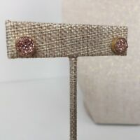 Copper Druzy Studs Earrings Gold Plated
