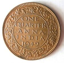 1942 INDIA 1/2 ANNA - AU/UNC - Great Coin - Very Sharp - Lot #Y2