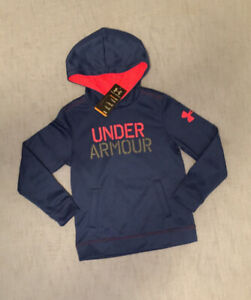 NWT Under Armour Boys Blue Loose Sweatshirt Hoodie Size Youth Small S