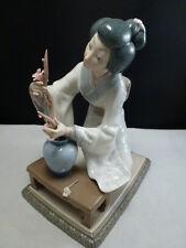 """LLADRO """"FLOWER ARRANGER"""" #4840 Asian Woman Figurine - Delicate Flowers"""
