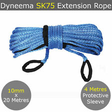 10MM X 20 Metres Dyneema Extension Winch Rope SK75 Spectra Cable Synthetic 4X4