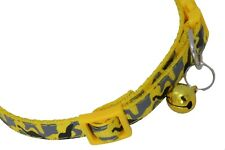 Yellow Dog Cat Collar Small Puppy Kitten Red Adjustable Strap COL015