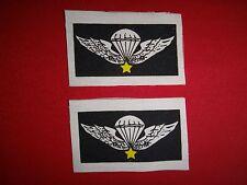 2 Vietnam War Cloth Print Patches ARVN Special Forces BASIC PARACHUTIST