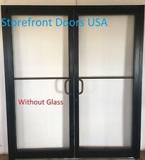 Bronze Storefront Door PAIR 6'0x 7'0, Commercial Door w Closer & Offset Pivots