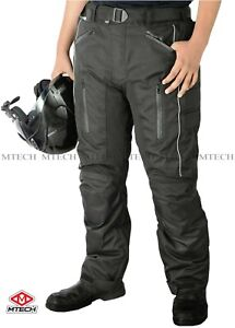 MTECH Motorcycle Cordura Textile Pants Water Proof CE Armoured Pants Trouser