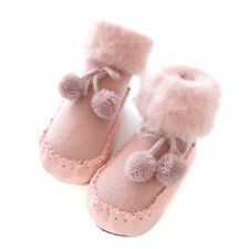 1 Pair Children Baby Girl Boy Shoes Anti-slip First Walker Warm Shoes For Winter