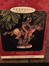 Hallmark Keepsake 1998 Pony Express Rider Ornament - Retired 1 of 3