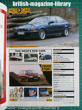 Autocar 9/4/1997 - Alpina BMW E39 M5 Feature across Europe - Road Test: Espace
