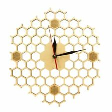 Single Face Bamboo Wall Clocks Geometric Modern Wooden Clock For Home Decoration