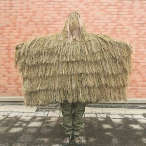3D Ghillie Poncho Cloak Suit Clothing Cape Withered Camouflage Tactical Sniper