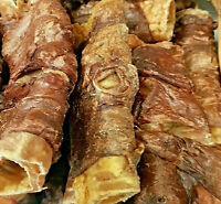 BUFFALO WRAPPED TRACHEA - 2, 5 or 15 Natural Dog Treats bp Lung Covered Throats
