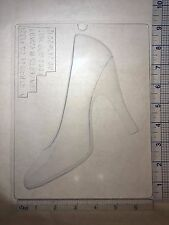 HIGH HEEL SHOE 3D LEFT HALF CLEAR PLASTIC CHOCOLATE CANDY MOLD  AO261