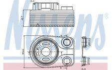 NISSENS Radiador de aceite, aceite motor VOLKSWAGEN RENAULT KANGOO 90705